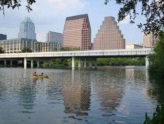 Kayaking in downtown Austin, Texas