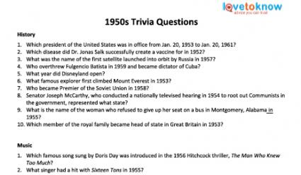 Senior Citizen Trivia Questions | LoveToKnow