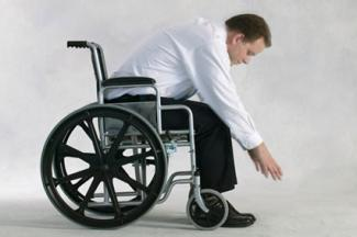 Seated forward bend in wheelchair