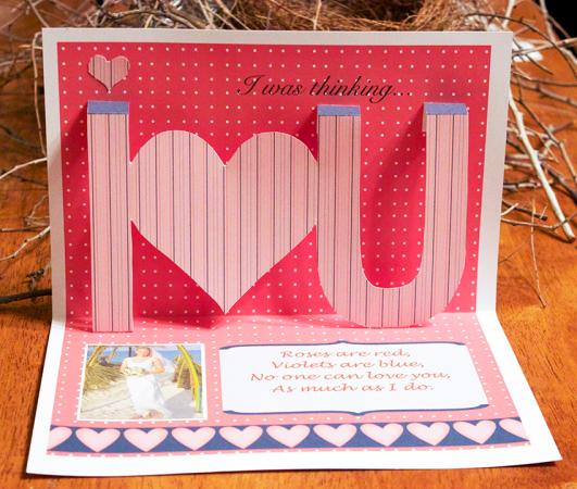 I Heart You popup card