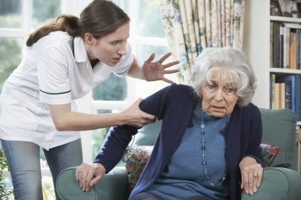 Caretaker Mistreating Senior Woman
