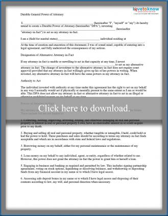 durable general power of attorney printable