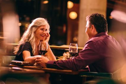 Senior couple on dinner date