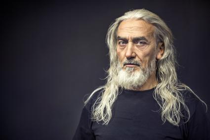Bearded Senior Man Portrait