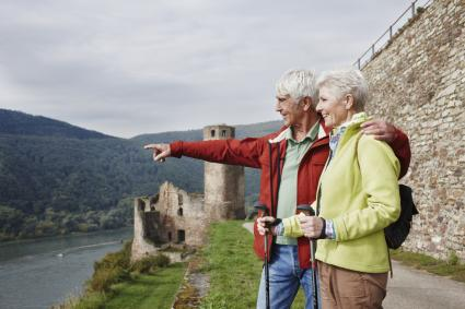senior couple in Europe