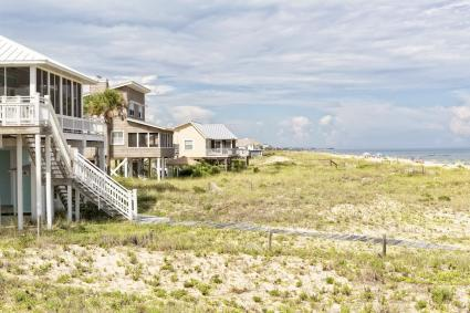 Beach Houses on St. George Island in Florida