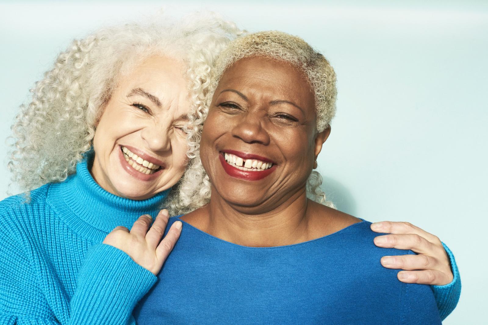 Two Senior Women Smiling