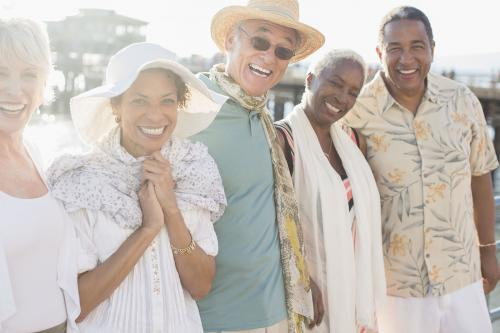 Senior citizens travel group