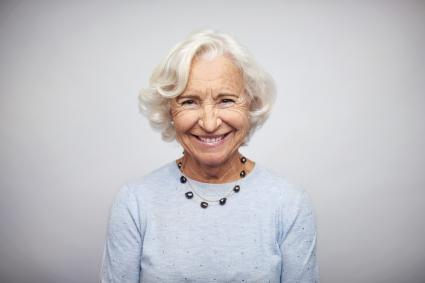 Senior businesswoman smiling