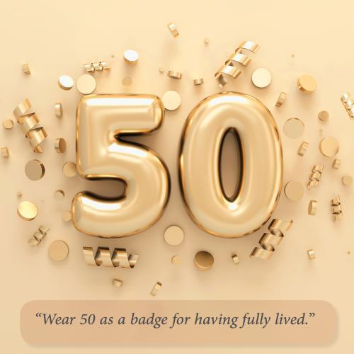 Golden mylar 50 balloon