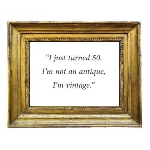 Vintage frame with quote