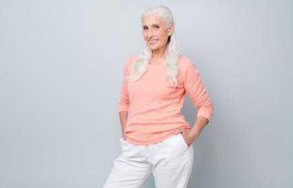 attractive granny standing