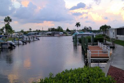 Marina at mobile home park