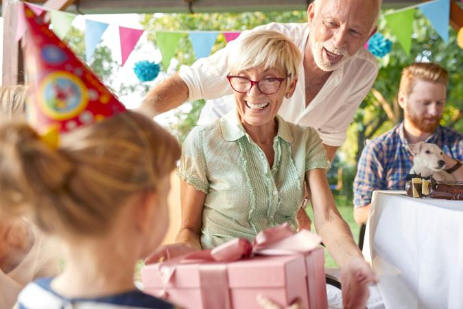 Turning 70 and a garden birthday party