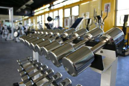 Image of a rack of barbells for strength training