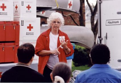 Woman from Senior Corps directing other volunteers