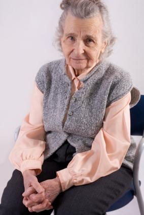 Image of a vulnerable senior woman