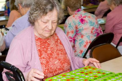 Senior Playing Bingo