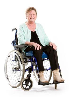 Clothing for wheelchair users is cut differently to enhance mobility.