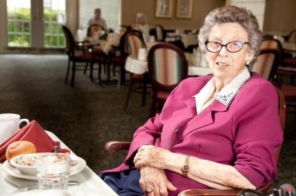 Pleasant meal for seniors
