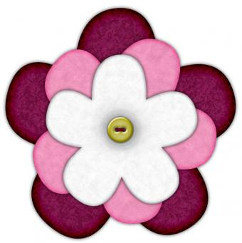 felt flower brooch pattern