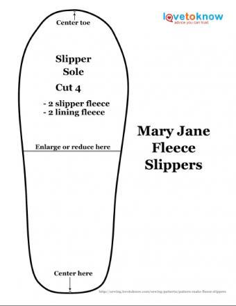 fleece slipper pattern