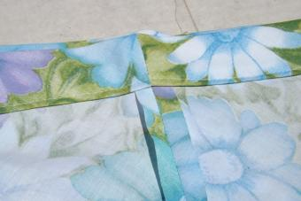 Sew the waistband casing.