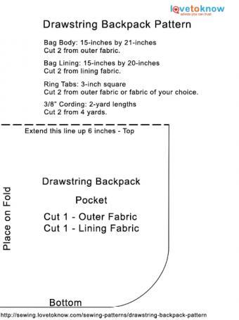 Drawstring Backpack Pattern PDF