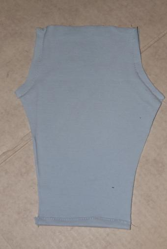 Sew the front and back seams.