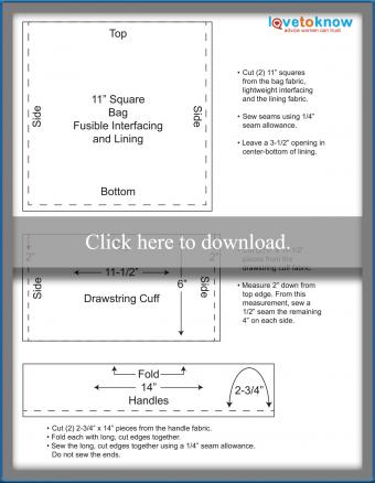 Lunch Bag Measurements and Diagrams