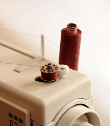 sewing machine with thread