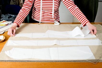woman at sewing table