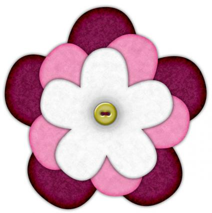 felt flower brooch pattern