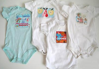 Decorating baby onesies and clothing from Chick Chick Sewing