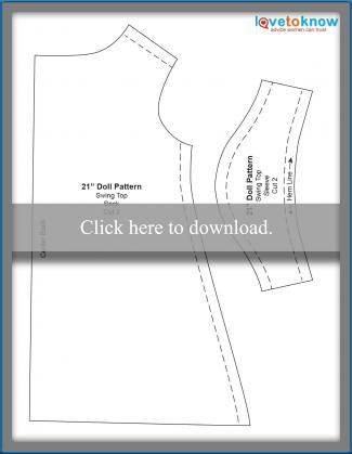 21-inch doll clothes pattern