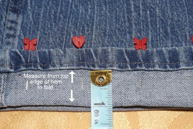 Measure and pin cuff.