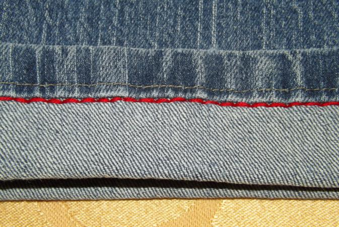 Backstitch the cuff.