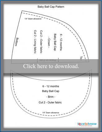Baby Ball Cap Pattern Printable PDF