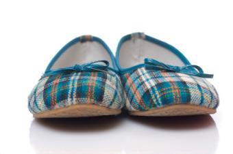 plaid flat shoes