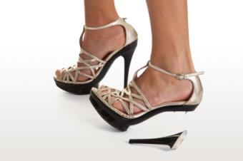 sandal with broken heel