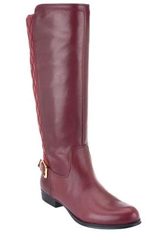 Isaac Mizrahi leather riding boots