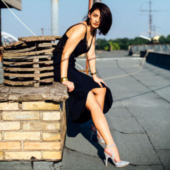 High-Low skirt and shoes