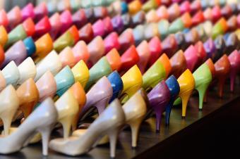 Colored heels on display