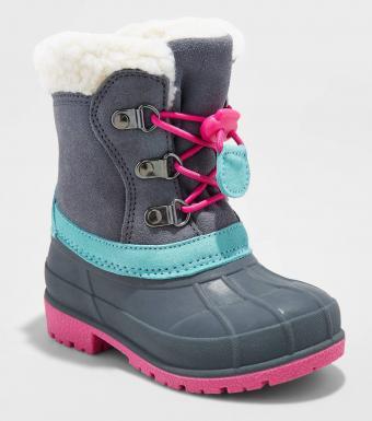 Toddler Girls' Mora Suede Bungee Boots