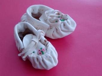Beaded baby moccasin