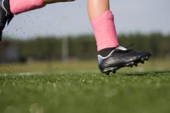 red soccer cleat