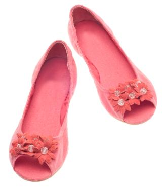 romantic pink flat