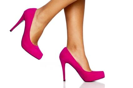 cute pink high heeled pumps