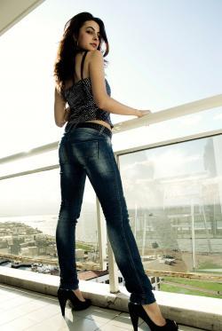 Woman wearing 6 inch heels