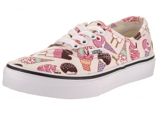 Vans Kids Authentic (Glitter Ice Cream) Skate Shoe